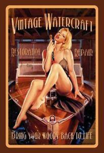 Vintage-watercraft-pin-up-girl-chapa-escudo-Escudo-Tin-sign-20-x-30-cm-fa0130