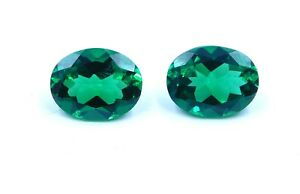 3-50Cts-2Pc-Neno-Emerald-Oval-Faceted-Gemstone-7X9-MM-Oval-Emerald-Loose-B451