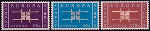 Cyprus 1963 Europa CEPT Unity set (3) **MNH, SG 234/6 cat £22