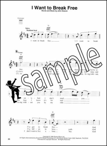 Queen for Ukulele Chord Melody Songbook 14 Hits Sing /& Strum Bohemian Rhapsody