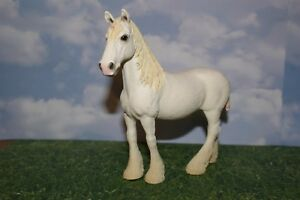 Image Is Loading White Shire Mare Draft Horse By Schleich Farm