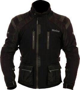 Weise-Onyx-Mens-Black-Waterproof-Textile-Motorcycle-Jacket-New-RRP-249-99