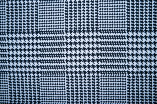 Herringbone Plaid Liverpool Print #104 Double Knit Fabric Polyester Spandex BTY