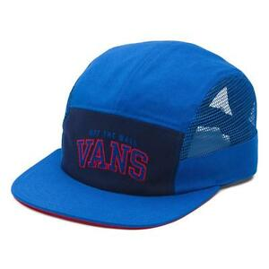 0655ff32 Details about Vans Off The Wall Meshed 5 Panel Hat Mens Royal Blue Soft  Crown Camper NWT