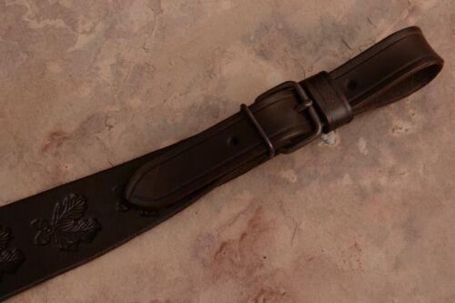 Embossed Genuine Leather Rifle Shotgun Gun Sling Strap 4 cm wide