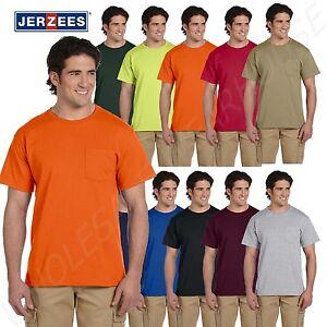 JERZEES-Mens-Heavyweight-Blend-50-50-T-Shirt-with-Pocket-Tee-S-XL-R-29P