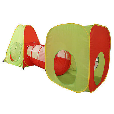 Kids Children Play House Tent Tunnel Set Indoor Outdoor Boys Girls - 3 Combo Set