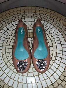6d4880383cad Womens Oka-B Bella Brown  Rhinestone Ballet Flats Shoes Sz 38 8 US ...