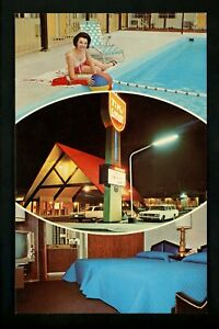 Washington-WA-postcard-Spokane-Tiki-Lodge-Spokane-hotel-motel-pool-chrome