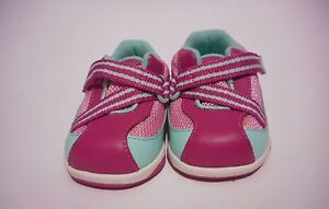 Genuine-Kids-Pink-Leather-Athletic-Shoes-Girls-Infant-Toddler-Size-2-EUC