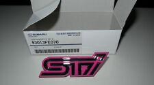 Subaru Impreza WRX STi Pink Grille Grill Badge Emblem OEM Genuine Blobeye