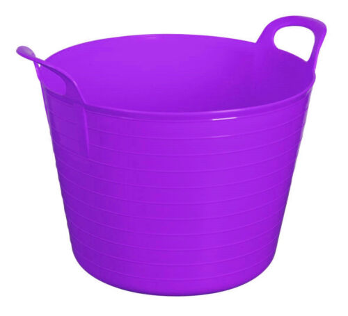PURPLE 42L 42 Litre Large Flexi Tub Garden Flexible Storage Trendy Bucket