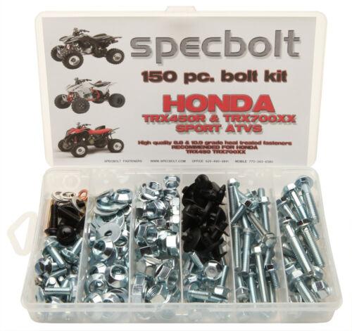 HONDA Bolt Kit TRX450R TRX700 fender engine wheel lug grab bar skid plates #0039
