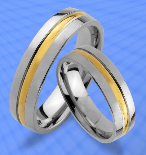 JE44 2 Ringe Trauringe Eheringe Partnerringe GRAVUR GRATIS