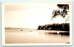 VTG-RPPC-Real-Photo-Lake-Bonaparte-NY-New-York-Adirondacks-Boats-House-A2