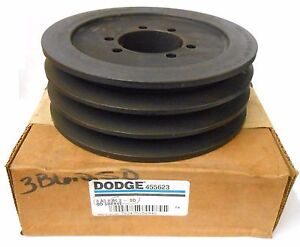 Dodge Qd Bushing Bore V Belt Pulley 455623 3 Groove 6 55