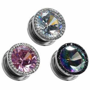 Diamond-Crystle-Ear-Gauges-and-Ear-Tunnels-Body-Piercing-Jewelry-Ear-Tunnel-2pcs