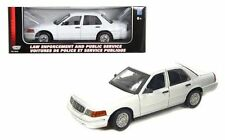 Motor Max 1/18 2001 Ford Crown Victoria Special Service Police Car Diecast 73527