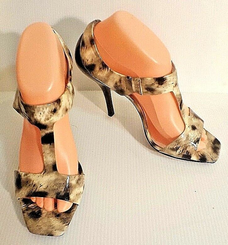 Jessica Simpson Animal Print Open US Toe Stiletto Sandale Schuhes US Open Größe 8.5B EU 38.5 d35ea0
