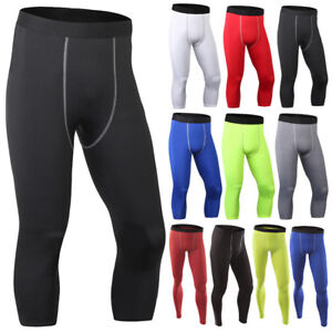 Mens Boys Fitness Leggings Compression Base Layer Sports Workout Tight Gym  Pants | eBay