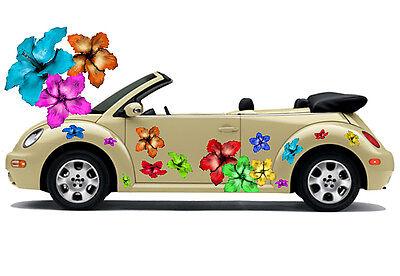 Hibiskus Blumen Hawaii Auto Aufkleber Blumenaufkleber Flower Power Hibiscus 019