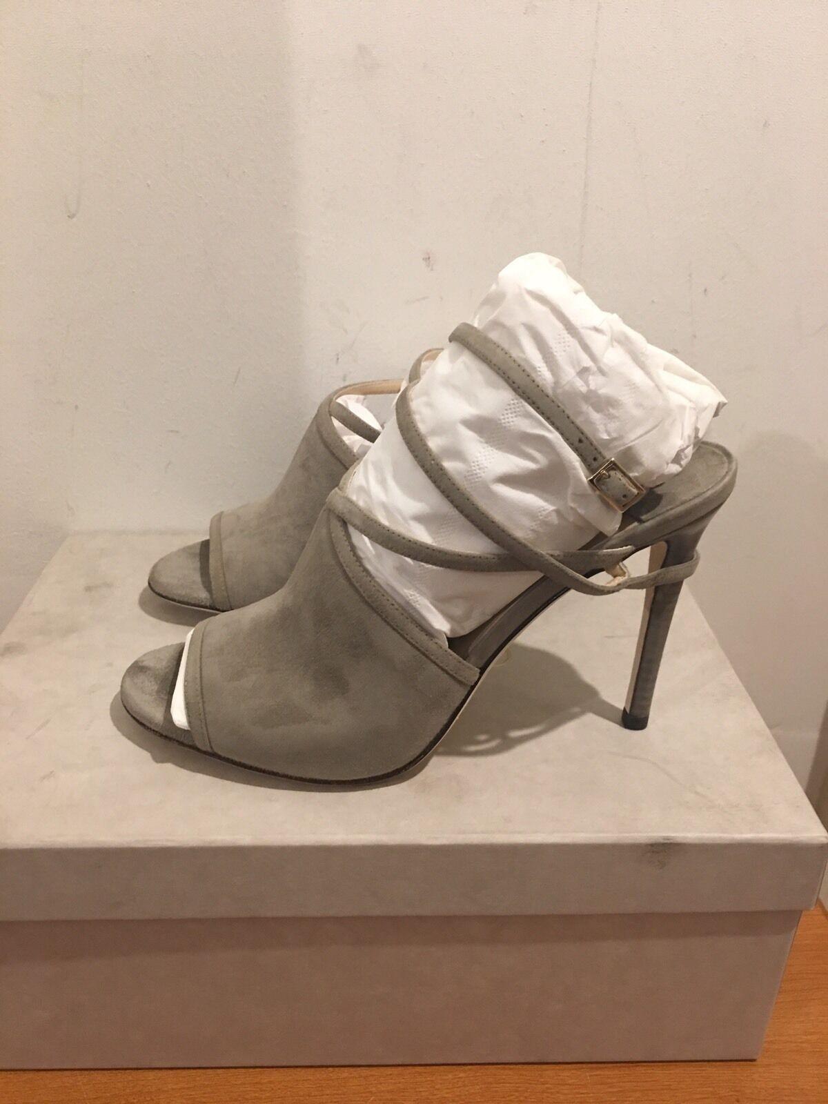 JIMMY CHOO Suede Flora Heels Sandals shoes UK  4 EU 37