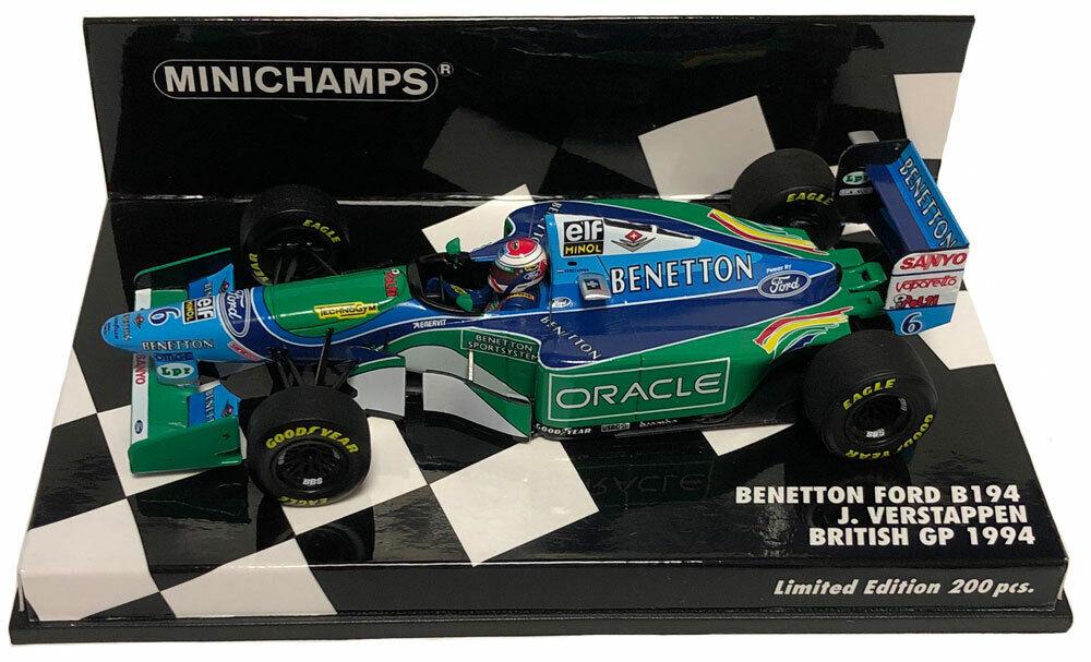 MINICHAMPS BENETTON B194 British GP 1994-Jos Verstappen  échelle 1 43  préférentiel