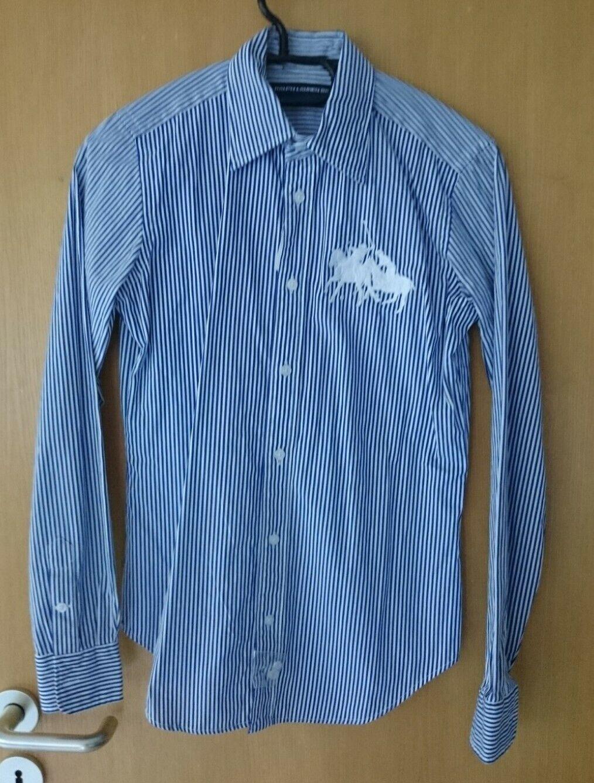 Ralph Lauren Hemd Blause NEU US 4 Gr 36 blau weiß gestreift NEU