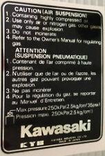 KAWASAKI GPZ1100B1 GPZ1100B2 CAUTION AIR SUSPENSION FORK LEG WARNING DECAL