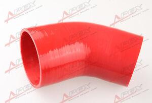 3-Ply-3-5-bis-2-5-45-Grad-Silikon-Schlauch-Koppler-Rohr-Red