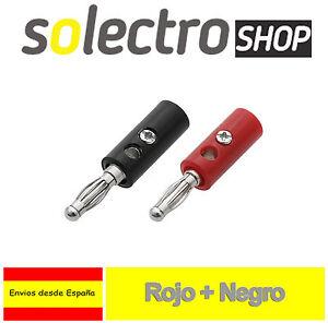 2x-Conector-Banana-diametro-4mm-Rojo-y-Negro-Arduino-Robotica-K0030