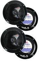 4) Pyle Plmr60b 6.5 300w Marine/boat Dual Cone Waterproof Speakers Two Pair on sale