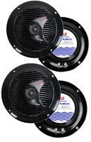 4) Pyle Plmr60b 6.5 300w Marine/boat Dual Cone Waterproof Speakers Two Pair on sale