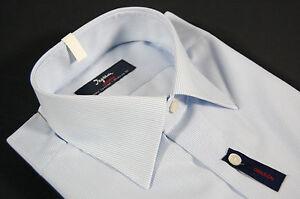 Camcia-uomo-Ingram-No-Stiro-slim-fit-a-righe-celeste-no-iron-man-fitting-shirt