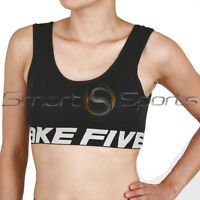 Ladies BLACK Shock Absorber Sports BRA Support Running Yoga Gym Womens Take 5