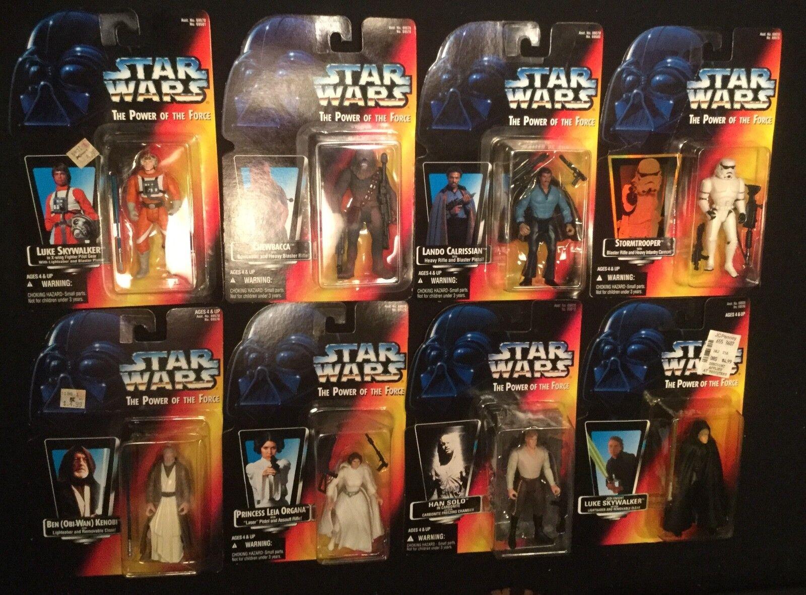 "Star Wars 3.75"" Action Figure lot 1995 Kenner Luke Han Chewy Lando Leia Obi-Wan"