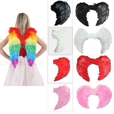 Wings Large Dress Feather Girls Angel Ladies Folding Fancy Foldable Rainbow z0EBBwqf