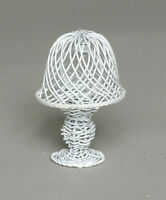 White Wire Table Lamp, Dolls House Miniature Room Accessory Lighting