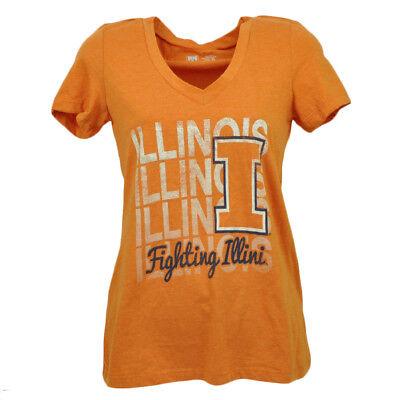 Begeistert Ncaa Illinois Kampf Illini V-ausschnitt Repeat Logo T-shirt Orange Damen Sport SpäTester Style-Online-Verkauf Von 2019 50% Sport