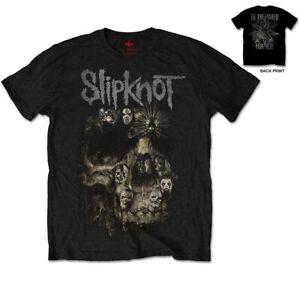 SLIPKNOT-Skull-Group-Mens-T-Shirt-Unisex-Tee-Official-Licensed-Band-Merch