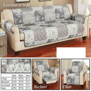 Sensational Details About Gray Tessa Patchwork Loveseat Cover Caraccident5 Cool Chair Designs And Ideas Caraccident5Info