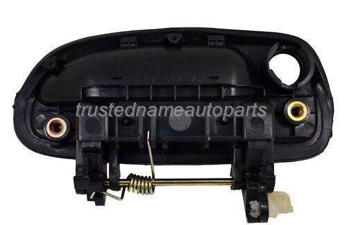 fits Hyundai Outside Exterior Door Handle Front Rear Left Right Smooth Black Set