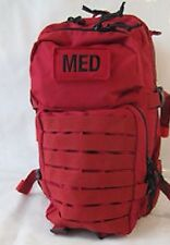Tactical Trauma Kit #3 First Aid Kit w/ Backpack STOCKED Medic Survival Bag RED-