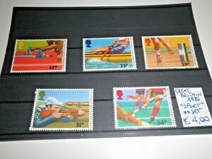 GRAN-BRETAGNA-GREAT-BRITAIN-1986-034-SPORT-ATLETICA-CANOA-034-NUOVI-MNH-SET-CAT-5A