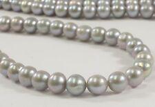 7 to 7.5 mm AAA Gray Semi-Round / Potato Freshwater Pearls, Genuine Pearls(#187)