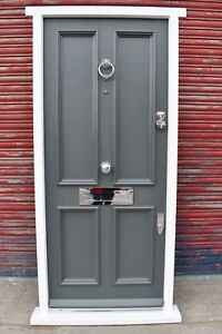 Details About Traditional Hardwood 4 Panel Front Door Bespoke Made To Measure