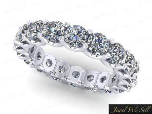 Image Is Loading 2 25ct Round Diamond Shared U G Eternity
