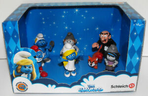 Smurfs Movie Edition Box Set 6 Figures Schleich Gargamel Smurfette Vanity 41339