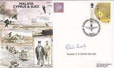 AC75c  We remember Cyprus, Malaya & Suez Signed Brig P.E.Crook CBE DSO