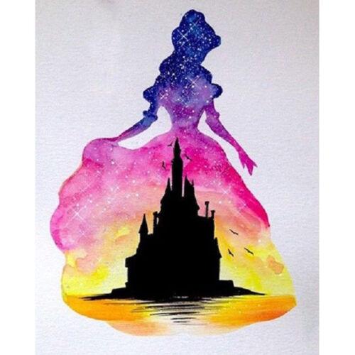 UK Princess/&Castle Full Drill 5D Diamond Painting Embroidery Cross Stitch Kit MA
